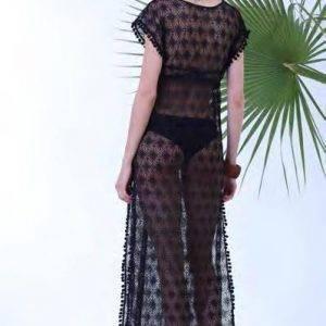 Φόρεμα μακρύ δαντέλα Milena 40149