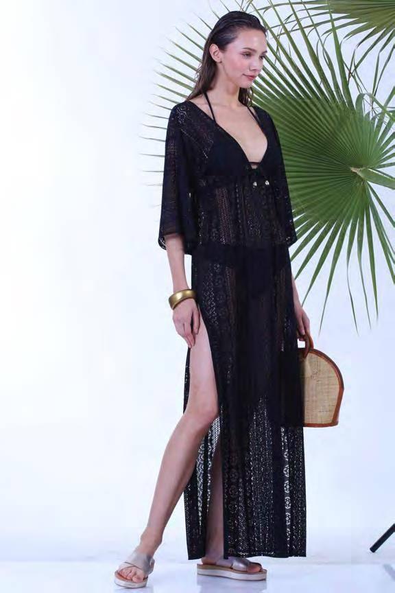 Φόρεμα μακρύ δαντέλα Milena 40150