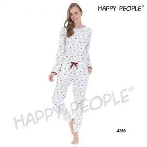 Γυναικεία πυτζάμα Happy People Pinguino ολόσωμη Μ\Μ 4269HP