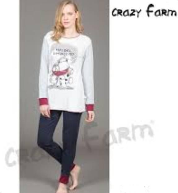 Γυναικεία πιζάμα Μ\Μ Crazy Farm 15304