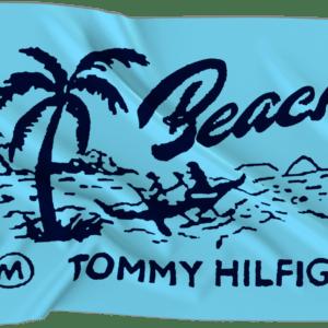Πετσέτα θαλάσσης Tommy Hilfigerflag Beach club prep fresh aqua UUOUUOOO41