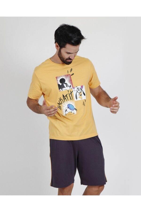 Ανδρική πιτζάμα Disney κοντο μανικι-κοντο παντελόνι 55415-0