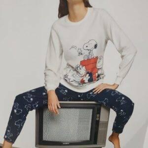 Γυναικεία πιτζάμα Μ\Μ Snoopy Gisela1837